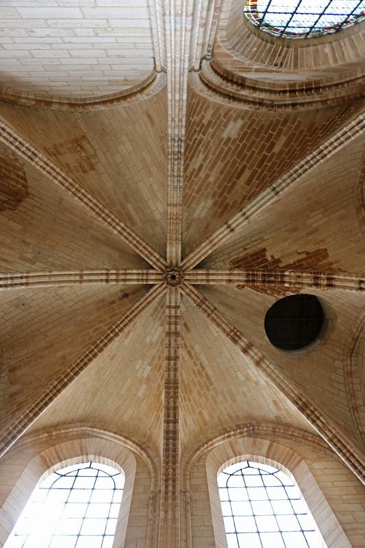 Vaulted ceiling inside Notre Dame