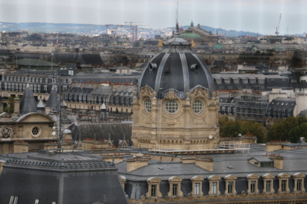 Dome of the Palais de Justice as viewed from the top of Notre Dame