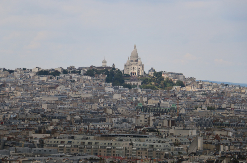 The Montmarte district, crowned by Sacré Cœur Basilica,  as seen from atop Notre Dame