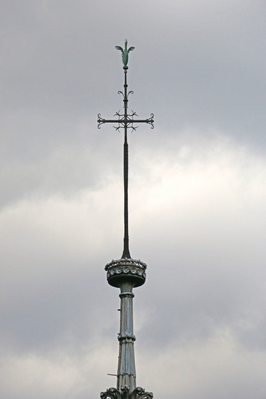 Cross atop Notre Dame