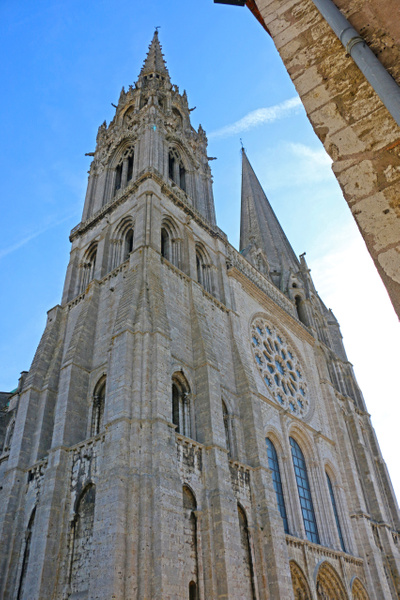 The west facade of Chartres Cathedral