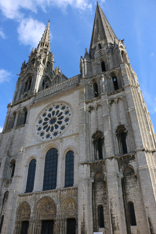 Chartres Cathedral's west facade