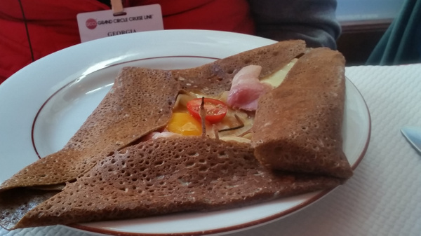 A crepe bearing a vague resemblance to the Starship Enterprise
