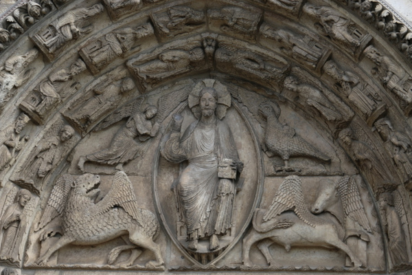 Chartres Cathedral-Central tympanum of the Royal portal