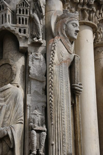 Chartres Cathedral-West facade sculptures