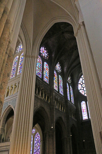 Chartres Cathedral-Looking up at the clerestory