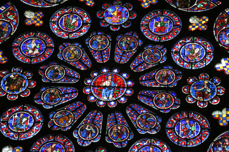 Chartres Cathedral-south transept rose window