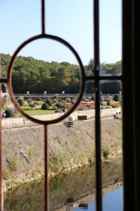View of Diane's garden across the moat