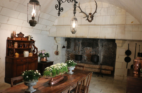 Cooking Hearth in the dining room used by chateau staff
