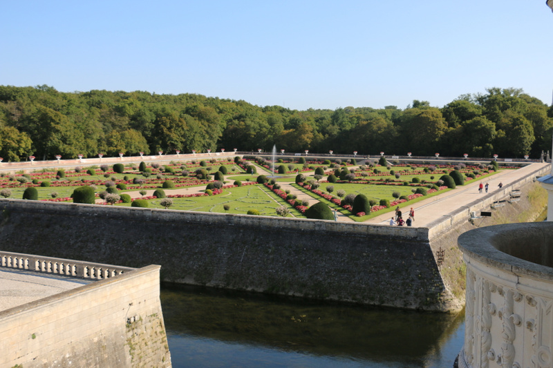 Diane de Poitier's garden fringed by the moat