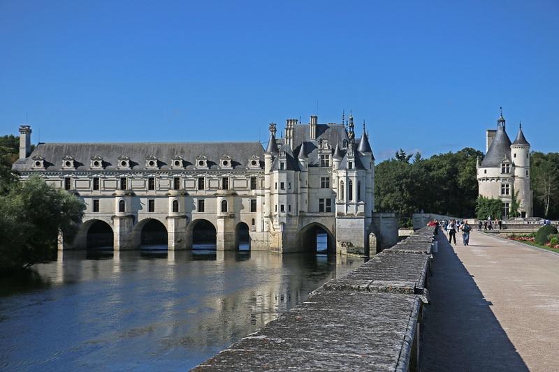 The Château de Chenonceau, on the Cher River.
