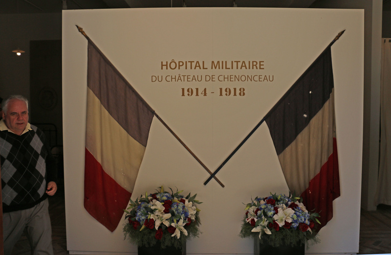 Commemorating the chateau's roll as a military hospital during the Great War