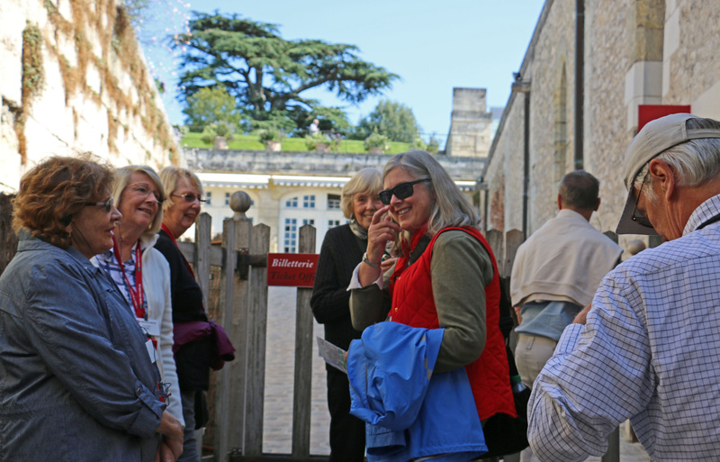 Members of our group entering Château d'Amboise