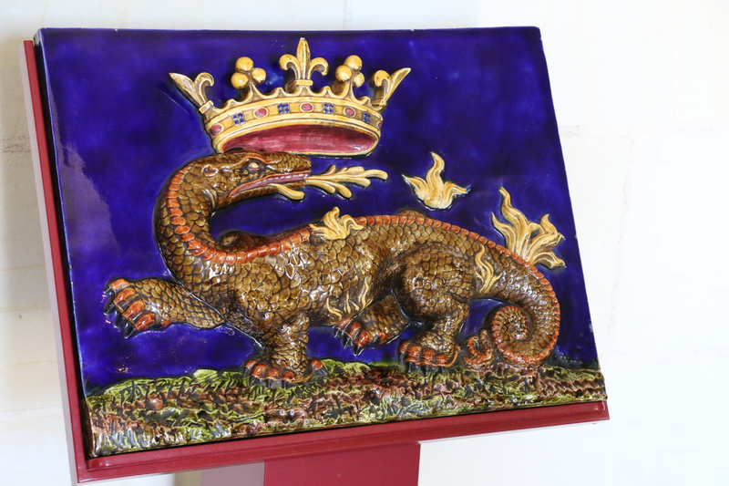 Royal Salamander-The Emblem of King Francis I of France (1494 – 1547) who ruled from Château d'Amboi