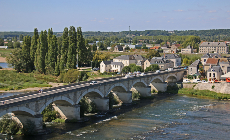 Bridge spanning the Loire River in Amboise