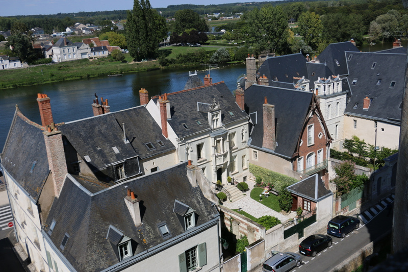 View of Amboise from the castle heights