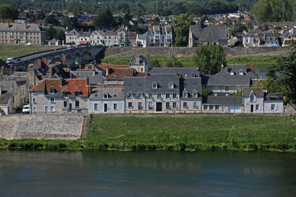Rge banks of the Loire River from the Chateau