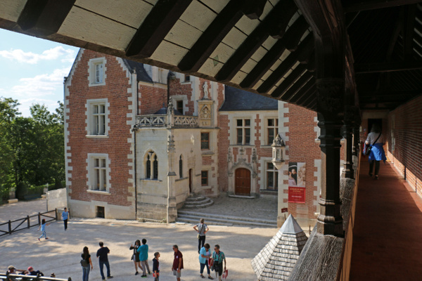 The courtyard of Clos Lucé