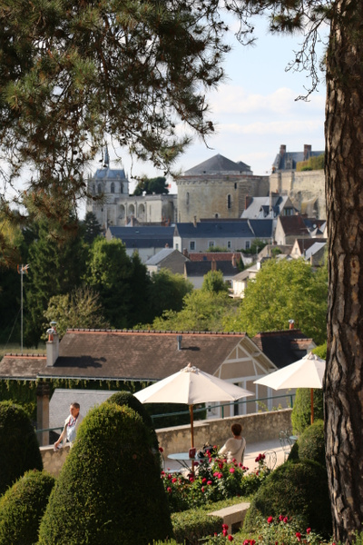 View of Chateau d'Amboise from Clos Lucé