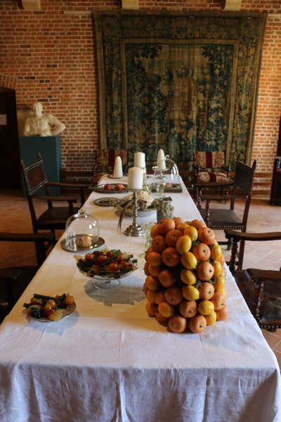 A sumptuous table at Clos Lucé