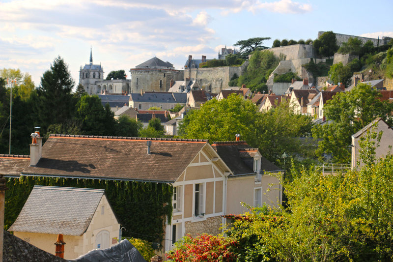 View of Amboise and Chateau d'Amboise from Clos Luce