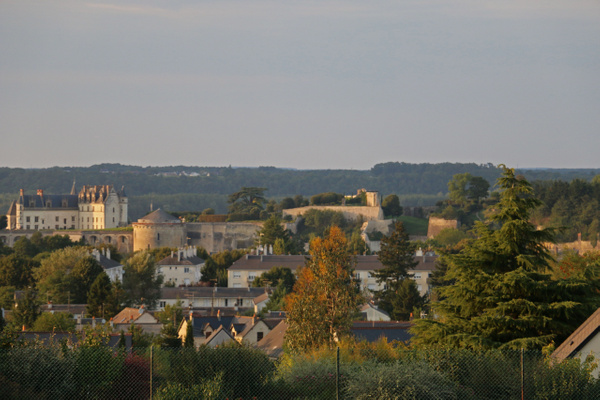 Amboise and it's Chateau viewed from our hotel