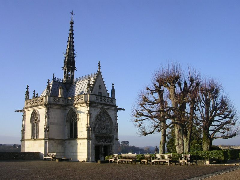 Château d'Amboise's Chapel of Saint-Hubert where Leonardo da Vinci is buried