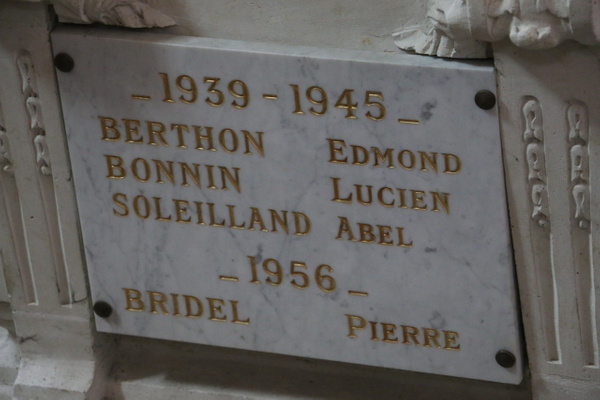Richelieu's dead from WW II War and the Algerian conflict