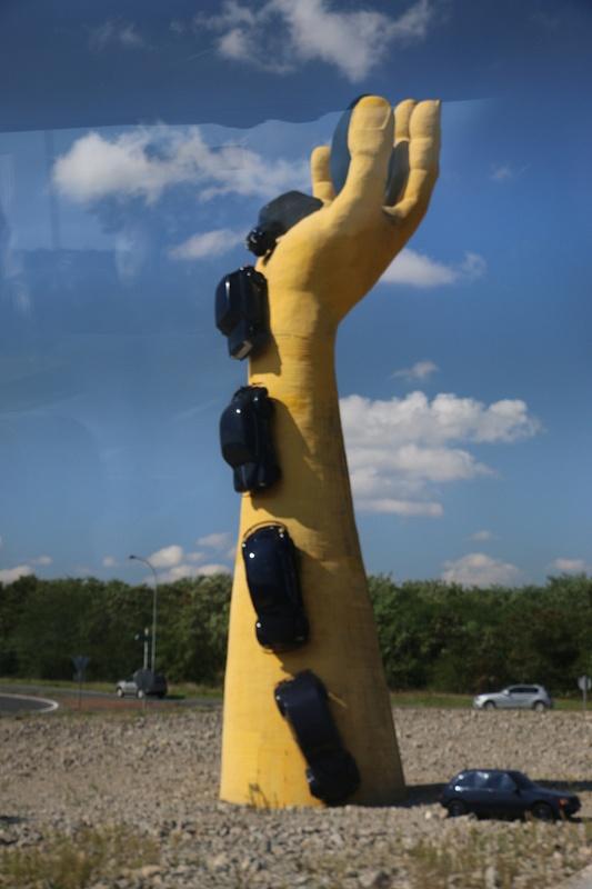 An unusual roadside sculpture en route to La Rochelle
