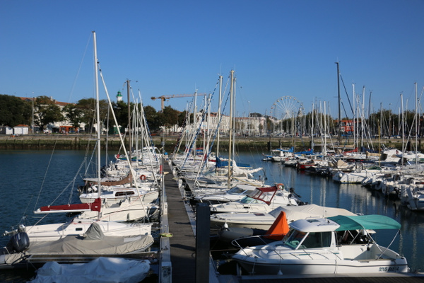Marina in the Old Port.  Sailing and motor boating are very big in La Rochelle.