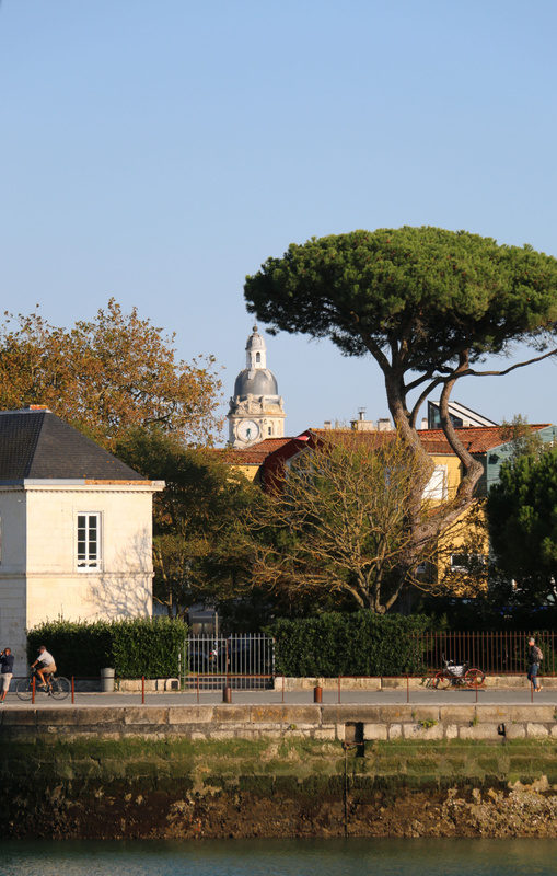 The tower of the Gare de La Rochelle peeks over the town's rooftops