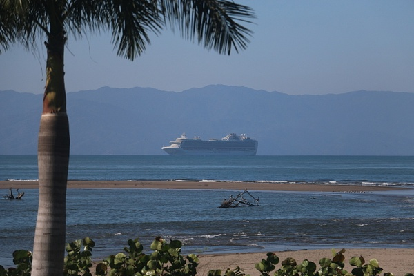 Early A.M. at The Point. The Love Boat cruising into Puerto Vallarta (Tuesday)