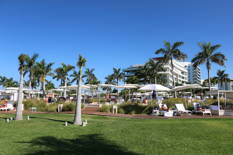 Looking back towards our base and the Grand Luxxe pool area (Tuesday)