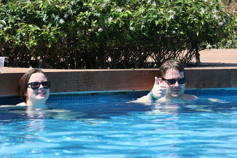 Amanda and Ben chillin' at La Punta pool