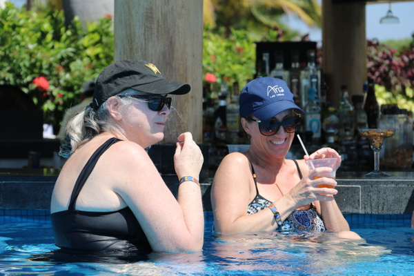 Happy hour at La Punta pool bar (Monday)