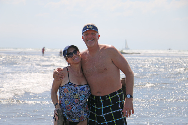 Bonnie-Ann and Barry at La Punta, The Point  (Monday)