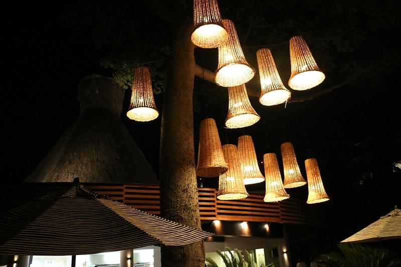 Costa Arena's tropical decor (Sunday)