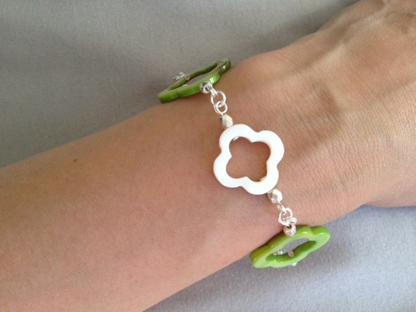 Lime_Q_MOP_and_Silver_Bracelet_b by MiroirDesigns