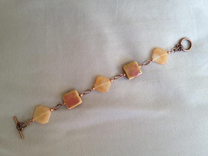 Peach_Aventurine_and_Ceramic_Copper_Bracelet_d
