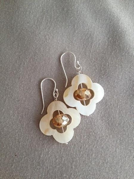 White_MOP_w_Dark_Champagne_Czech_crystal_silver_earrings...