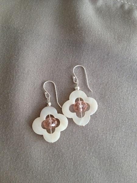 White_MOP_w_Pink_Champagne_Czech_crystal_silver_earrings...