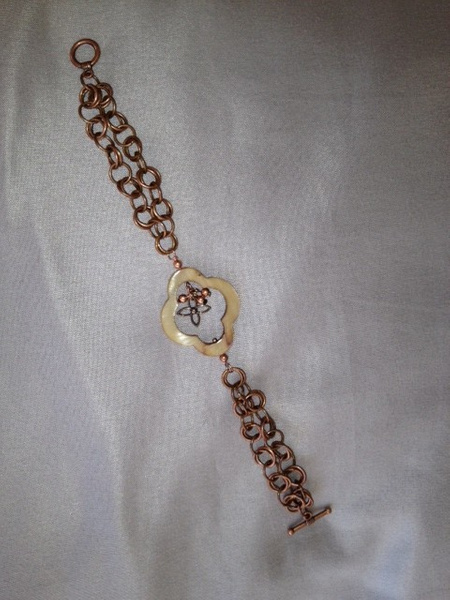 Champagne_MOP_Q_with_Bronze_SS_Q_Bracelet by...
