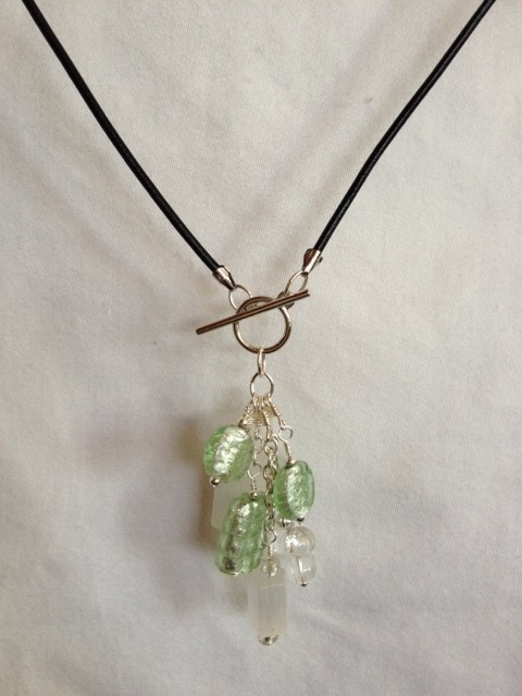 Green_glass_silver_leather_cord_necklace_Far_b
