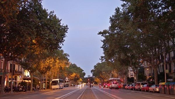 Barcelona Sunset Street by Navygate