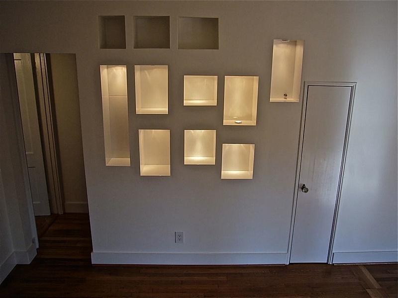 tiled trophy cabinet