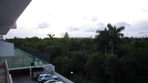 Balcony View Crandom & Tennis Courts by Carlos Schopenhauer