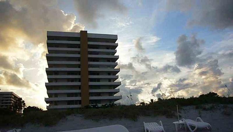 Building seen from Beach