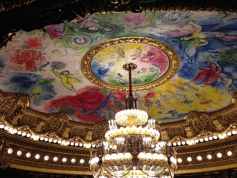 Opera Garnier. Le plafond de Marc Shagall