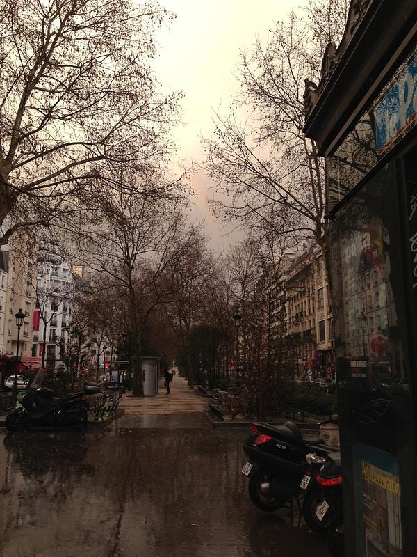 L'Arc on ciel après la grêle. Montmartre