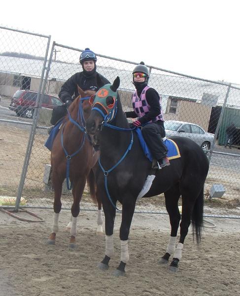Maria and Jockey Angel Suarez by Maria Remedio